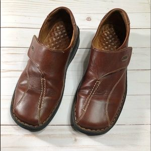 Josef Seibel brown leather Velcro shoes size 39